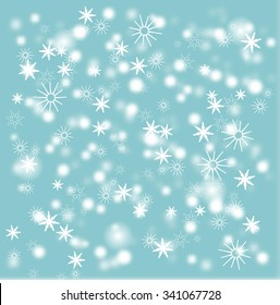 snow background vector blurred