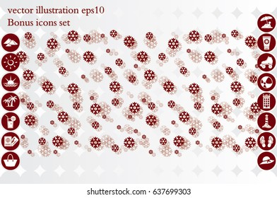 Snow background. Vector illustration of falling snowflakes. It is well suited for design of postcards, web pages and wallpaper.
