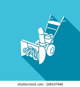 Snow blower icon: equipment for snow removal. Vector Illustration.