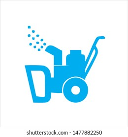 snow cleaning machine vector icon logo