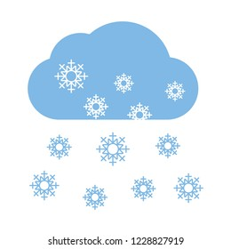 Snow cloud cold icon for web and print