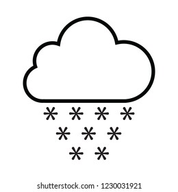 snow cloud icon for web and print