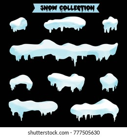 snow collection vector