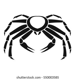 Snow crab icon. Simple illustration of snow crab vector icon for web