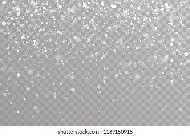 Snow falling winter snowflakes christmas new year design template elements vector illustration