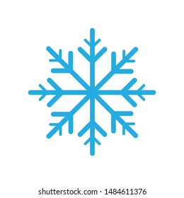 snow flake icon isolated vector