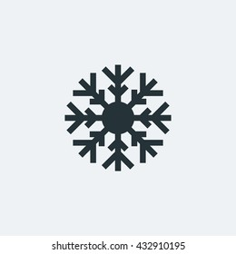 Snow Flake icon in trendy flat style background, image jpg, vector eps, flat web, material icon, UI illustration