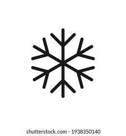 Snow flake. Vector illustration of safe packaging symbol for use at low or cold temperatures, isolated on a blank background that can be edited and changed color. Perfect for code on packaging.