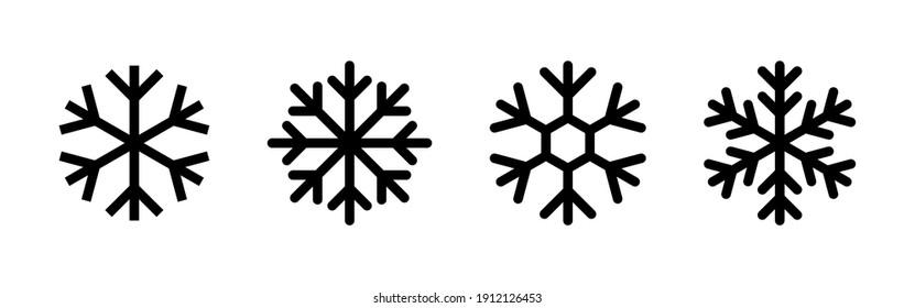 Snow icon vector. snowflake icon vector