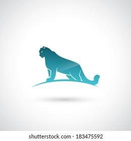 Snow leopard - vector illustration