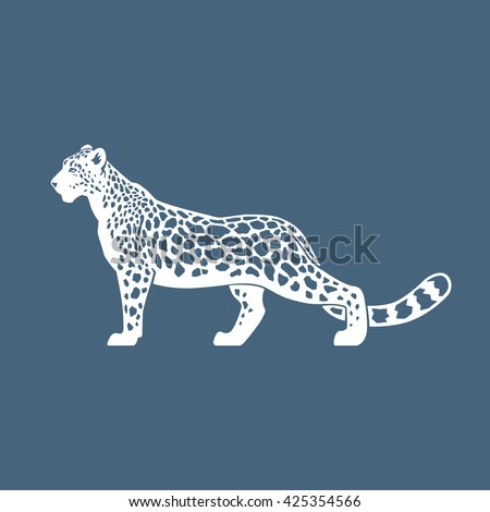 Snow Leopard vector illustration