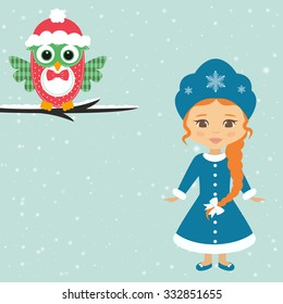 snow maiden and owl