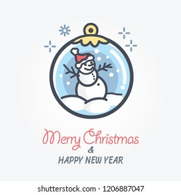 snow man vector icon