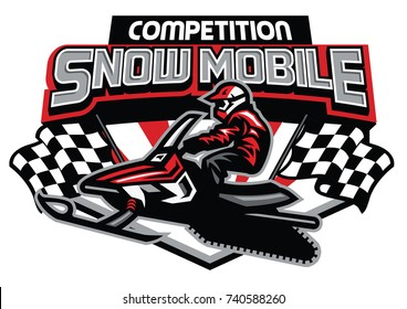 snow mobile competition badge design