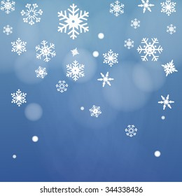 snow night background vector