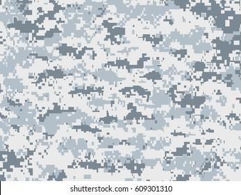 Snow pixels camouflage