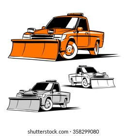 Snow Plow Services. Snow Plow Truck illustration