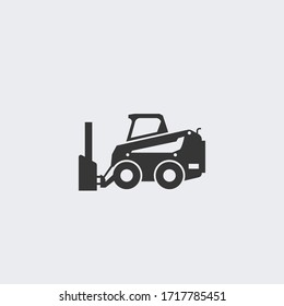 Snow plow truck vector icon illustration sign