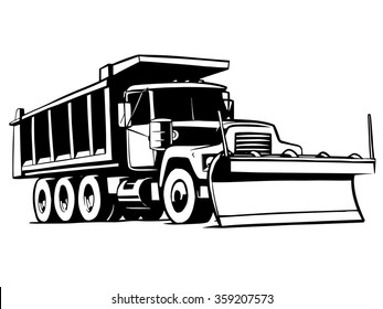 snow plow stock illustrations images vectors shutterstock rh shutterstock com plowing snow clipart snow plow clipart free