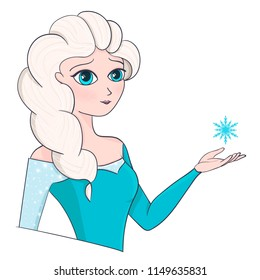 Snow Queen. Frozen Elsa princess