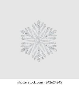 snow sign, transparent water drop vector