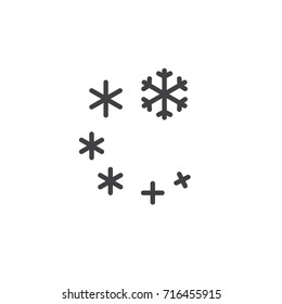 Snow storm icon vector, filled flat sign, solid pictogram isolated on white. Symbol, logo illustration.