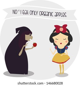 snow white only eat organic food