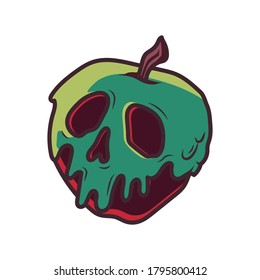 Snow White poisonous apple Vector