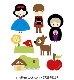 Snow white vector.