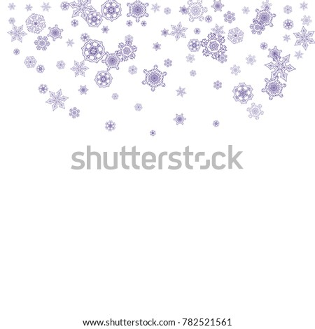 snow window with ultra violet snowflakes winter frame for flyer gift card party