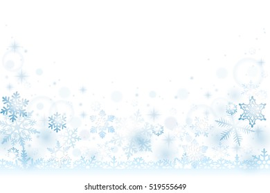 Snow winter background with falling snowflakes