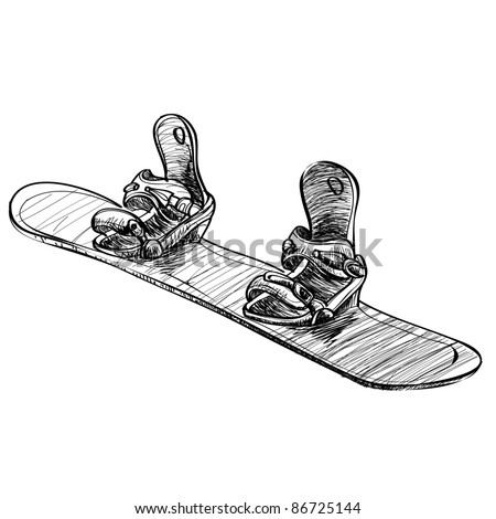 7fea4e13d927 Snowboard Board Sketch Vector Illustration Stock Vector (Royalty ...