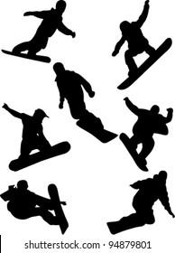 snowboard collection vector