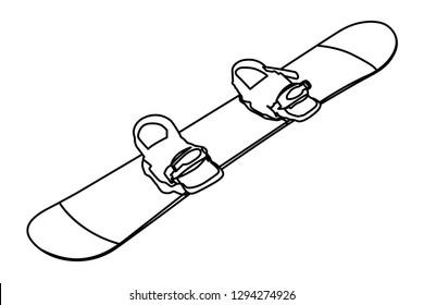 snowboard contour vector illustration