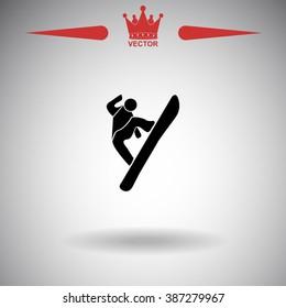 Snowboard icon.