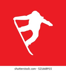 snowboard Icon Vector Illustration