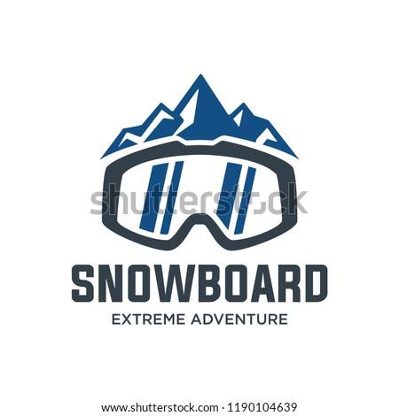 1e83120ce49c Snowboard Logo Vector Illustration Emblem Design Stock Vector ...