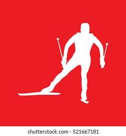 snowboard skiing Icon Vector Illustration
