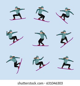 snowboarder design vector