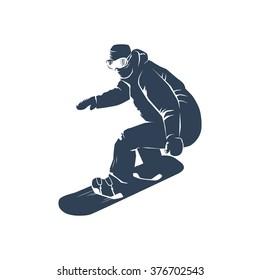 Snowboarder silhouette. Vector illustration