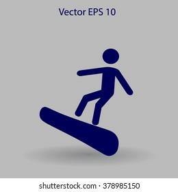 Snowboarder vector illustration