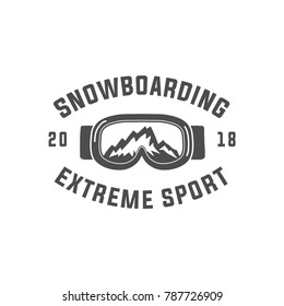snowboarding emblems, labels and designed elements. Extreme theme, winter games, outdoors adventure