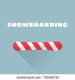 Snowboarding flat vector illustration. Vector illustration. Winter sport.