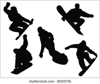snowboarding silhouette