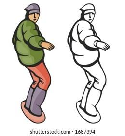 Snowboarding vector illustration.