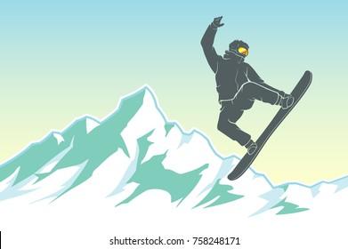 Snowboarding Winter Peak