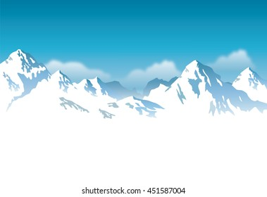 snow-capped mountains - background