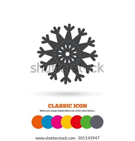 Snowflake Artistic Sign Icon Christmas New Stock Vector