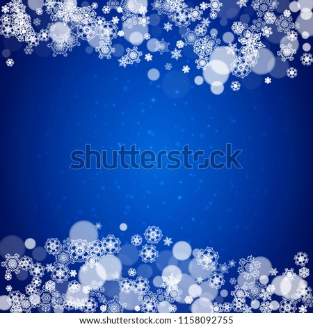 snowflake border for christmas and new year celebration holiday snowflake border on blue background with