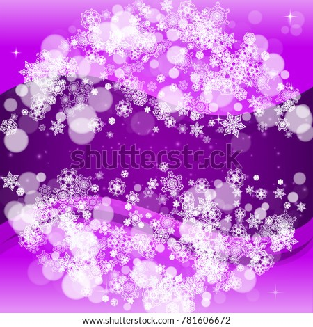 snowflake border with ultraviolet snow new year backdrop winter frame for flyer gift